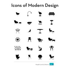 icons of modern design (PDF booklet and vector art) Diy Design, Design Art, Graphic Design, Nordic Design, Design Ideas, Modern Interior Design, Modern Decor, Modern Art, Modern Love