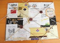 Help yourself remember your favorite wines by creating a decoupaged Wine Label Memo Board