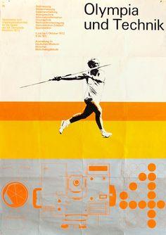"Olimpiadi 1972 Monaco cultura-Edition ""Olympia e tecnologia"" Otl Aicher Munich, Olympia, International Typographic Style, Otl Aicher, Dynamic Design, Information Design, Grafik Design, Graphic Design Typography, Olympic Games"