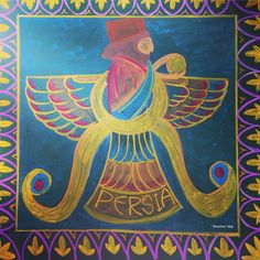 Ancient Persia Main Lesson Chalkboard Drawing ~ 5th Grade ~ Waldorf/Steiner Education