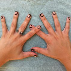#Heart #Nails #Manicure - you don't paint the hearts on your actual nails so there are no mess ups!