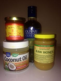 Some of my staple products for natural hair.