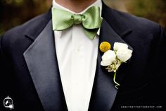 Bowtie and billy ball boutonniere.