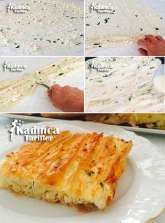 Peynirli Pileli Börek Tarifi East Dessert Recipes, Breakfast Recipes, Turkish Recipes, Italian Recipes, Pizza Pastry, Fish And Meat, Fresh Fruits And Vegetables, Arabic Food, Pastry Recipes