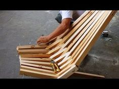 How To Make A Folding Cedar Lawn Chair DIY Woodworking Projects - YouTube