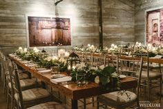 Lovely tables from this Distillery-district wedding, that embraced organic design elements and brought the outdoor environment inside   WedLuxe Magazine
