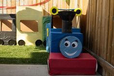 Thomas the Train party -box play structure