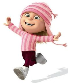 Despicable Me - Edith Gru (voiced by Dana Gaier) is one of Gru's adopted daughters, along with Margo and Agnes. She shares many traits with Gru, being very destructive, tomboyish and sports a macabre sense of humor. Upon seeing all of Gru's weapons and torture devices, her dark, destructive nature is shown when she nonchalantly walks into an iron maiden and starts playing with Gru's dangerous weapons in his lab.