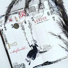 New Year, new insert, new design ... 🙈🙊 . . #travelersnotebooklove #travlersnote #artjournal #artjournaling #notebook #inserts #newdesign #papierprojekt #paper #deco #plannergirl #plannercommunity #kurztrip #washitape #washi #stamp #stationery #thelittlethings #stationaryaddict #sticker #leatherjournal #goodies #blackandwhite #dairy #planneraddict #charms #weeklyplanner #instadaily #craft #midori