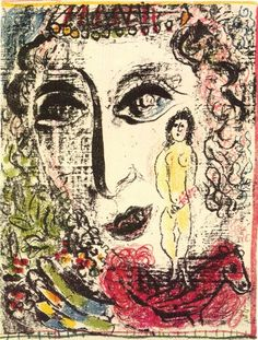 Marc Chagall La Apparition au Cirque - M 392 - Lithograph III - Original lithograph from 1963 Chagall Lithograph II. Marc Chagall, Pablo Picasso, Art Moderne, Naive Art, Cubism, French Artists, Sculpture, Les Oeuvres, Art Forms