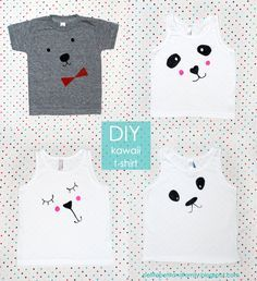 Llevo el invierno ♥: Guest post.... D.I.Y. Kawaii T-shirts by Celina.  I must try for a kung fu panda party