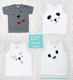 petit à petit e família: DIY: kawaii camisetas
