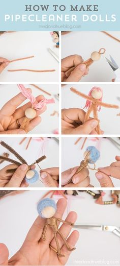How to make Travel Pipecleaner Dolls with just a few basic craft supplies! Perfect for keeping kids entertained in the car or at restaurants! Fairy Crafts, Doll Crafts, Diy Doll, Kids Craft Supplies, Decoupage, Pipe Cleaner Crafts, Clothespin Dolls, Doll Tutorial, Flower Fairies