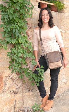 kleine schwarze Damen Herren Vintage Tasche Umhängetasche Messenger Messengertasche Schultertasche Handtasche Canvastasche Ledertasche Leder Canvas