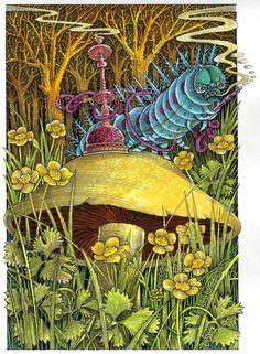 """Иллюстратор John Vernon Lord.Автор Lewis Carroll.Сказка """"Алиса в стране чудес"""".Страна Великобритания.Год издания 2009.Издательство Artists' Choice Editions................................................"""