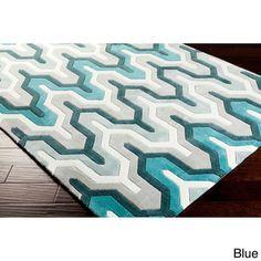 Hand-tufted 5x8 'Aztec Contemporary' Geometric Rug - Overstock.com