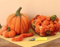 Cultivate your own pumpkin patch—indoors—with Decadent Fibers' needle felting kit. Needle felting is... - Charles Schiller