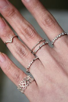 Milgrain Wave Eternity Band Ring White Gold from kellinsilver.com