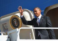 27 10/3/12 US President Barack Obama steps off Air Force One on October 3, 2012 upon arrival at Buckley Air Force Base in Denver, Colorado. Obama is in Denver, Colorado for the first presidential debate. MANDEL NGAN/AFP/GettyImages