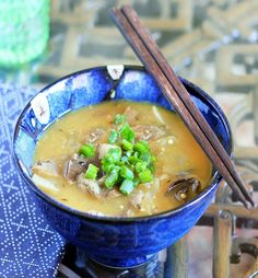 """Get well"" mushroom soup - tastes great if you like miso and mushrooms, great for your immune system!"