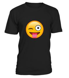 Face Emoticon Tongue Out Emoji With Winking Eye T shirt