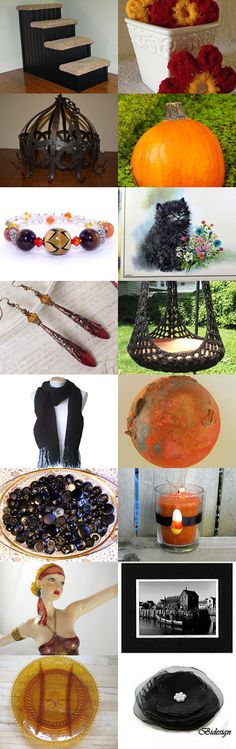 Falling for Black, Brown, and Orange by Michele on Etsy--Pinned with TreasuryPin.com
