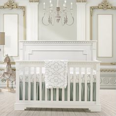 Natart Ithaca 5-in-1 Brushed Oak Crib with Wood Panel