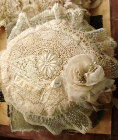 Just Lilla: Lace signature cushion