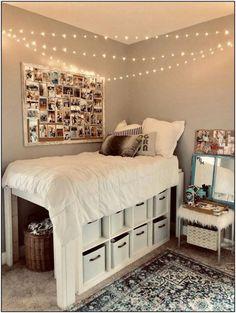 27 Amazing Dorm Room Ideas That Will Transform Your Room 125 Dorm Room Storage, Dorm Room Organization, Organization Ideas, Bed Storage, Small Room Storage Ideas, Ikea Room Ideas, College Dorm Storage, Closet Storage, School Organization