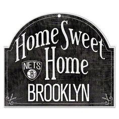 Brooklyn Nets Home Sweet Home Wood Sign #brooklyn #nets #nba