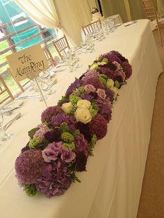 Wedding - Lilacs and Limes #TopTable