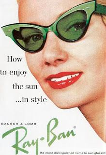 bc06f172f8 Verde green retro Ray-Bans sunglasses from a vintage ad.