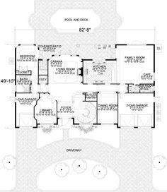 Luxury Bathroom Floor Plans Best Of Italian Style House Plan with 4 Bed 6 Bath 3 Car Family House Plans, Tiny House Plans, House Floor Plans, Cabana, Walk In Closet Dimensions, Bathroom Floor Plans, Bathroom Ideas, Farm Plans, Apartment Floor Plans