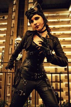 Steampunk Catwoman Costume