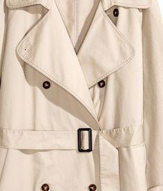 Cotton Trenchcoat | Light beige | Ladies | H&M US