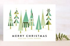 Patterned Tree Forrest by Shiny Penny Studio at minted.com