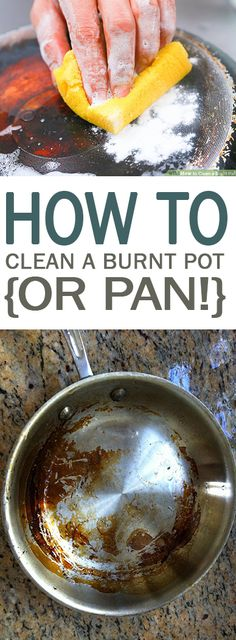 How to Clean a Burnt Pot {or Pan!} - 101 Days of Organization