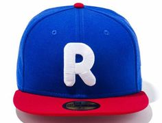 R Logo Bright Royal X Scarlet 59Fifty Fitted Cap By RODY NEW ERA