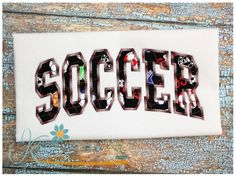 Soccer Arched Applique