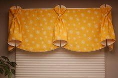 Custom Window Valance BUNNY EARS Hidden Rod by BlackBeltHomeDecor, $140.00