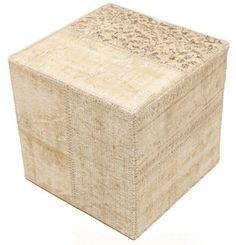 Patchwork stool ottoman 50x50