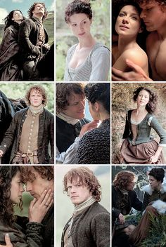 Jamie & Claire from the Outlander series — wolvenstorme: Jamie & Claire - Outlander season 1b...