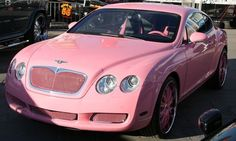 A pink Bentley, how does it sound to you? Quite interesting, now imagine a pink Bentley with diamond-encrusted dashboard and complete with PH logo, wow! The heiress Paris Hilton has ordered custom made diamond-encrusted dashboard for her pink Bentley dire Bmw, Audi, Porsche, Dream Cars, My Dream Car, Lamborghini, Maserati, Bugatti, Bentley Continental Gt