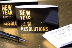 New Year's Eve wedding ideas: Instead of a traditional guest book, ask your guests to share their New Year's Resolutions.