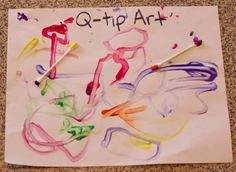 "letter Q ideas - q tip art and ""quack"" craft--Q-tip art will work on fine motor skills and teaching pencil grip while still being ""fun"" Preschool Letter Crafts, Abc Crafts, Preschool Projects, Alphabet Crafts, Easy Arts And Crafts, Daycare Crafts, Classroom Crafts, Alphabet Activities, Preschool Activities"