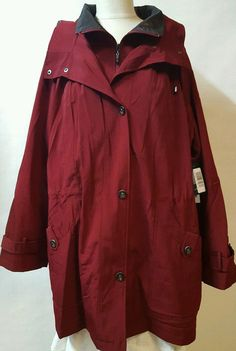 Red Claret Winter Coat Parka Size 2X Water Repellent  Removable Liner Washable #MissGalleryWomen #Parka