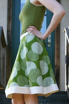 One Hour Skirt - cute, cute, cute!!  But if I make it, it will probably take more than an hour:)