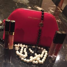Makeup bag Dolce and Gabbana bag.  Gorgeous bag with a zipper in the shape of a lipstick.  NWOT Dolce & Gabbana Bags Cosmetic Bags & Cases