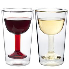 On the nights when slender stems and dainty rims stay in the cupboard, enjoy your wine with this sturdy, double walled glassware.