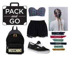 """""""Summer's Last Days"""" by catfashionsets on Polyvore featuring Billabong, Chicwish, Vans, Moschino and Packandgo"""